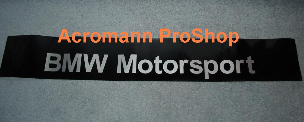 BMW Motorsport Windshield Decal (Style#1)